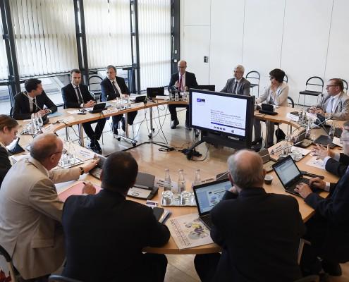 Rencontre des directeurs de l'IMT avec Emmanuel Macron