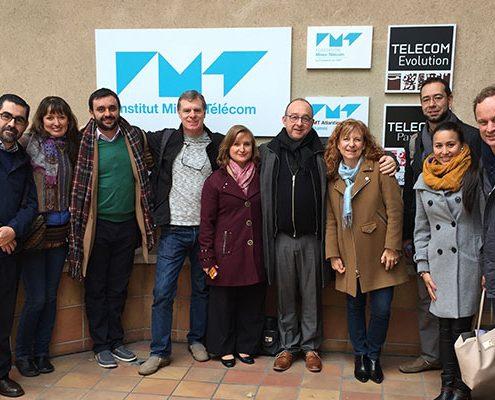 La délégation de responsables internationaux d'établissements d'Amérique du Sud