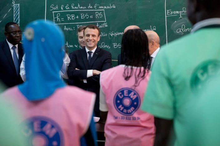 Emmanuel Macron à Dakar