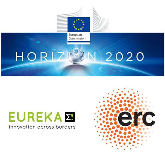 Horizon 2020, Eureka, ERC